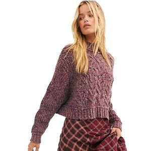 NWOT Free People Merry Go Round Cropped Sweater